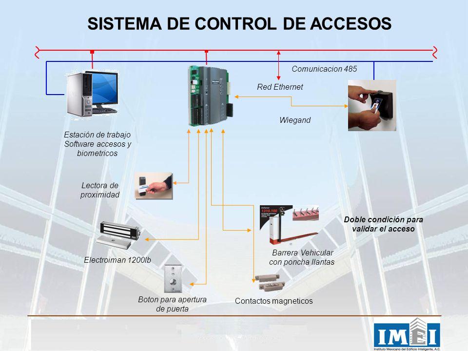 Lectora de proximidad Electroiman 1200lb Boton para apertura de puerta Contactos magneticos Barrera Vehicular con poncha llantas Estación de trabajo S