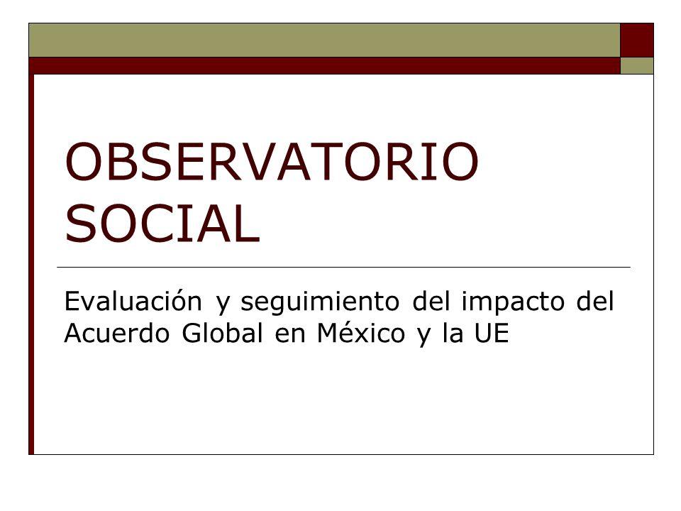 OBSERVATORIO SOCIAL Evaluación y seguimiento del impacto del Acuerdo Global en México y la UE