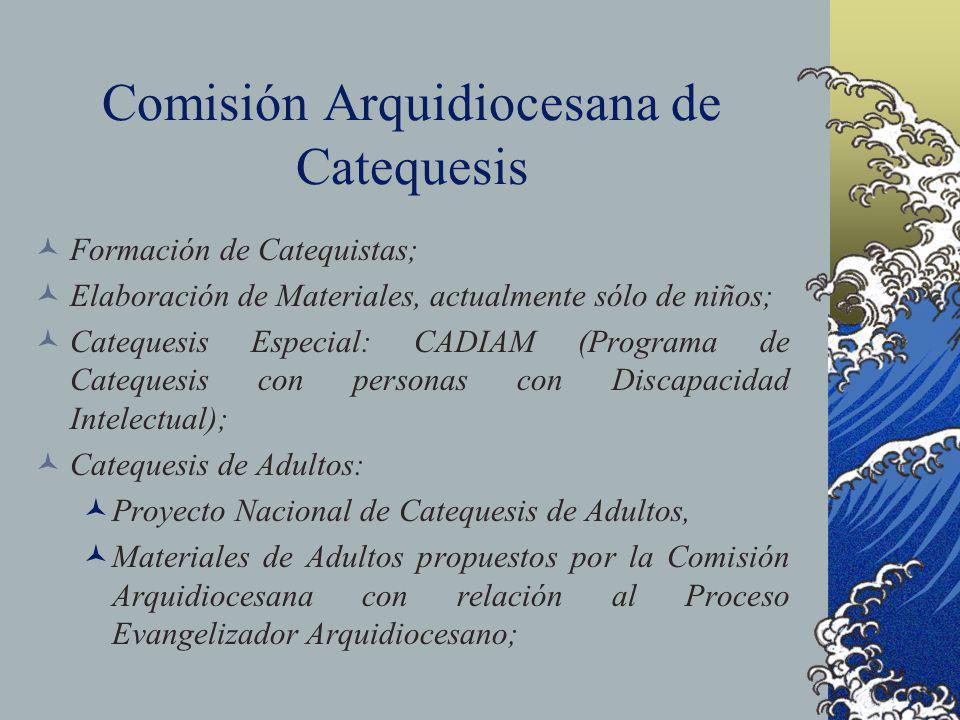 Comisión Arquidiocesana de Catequesis Formación de Catequistas; Elaboración de Materiales, actualmente sólo de niños; Catequesis Especial: CADIAM (Pro
