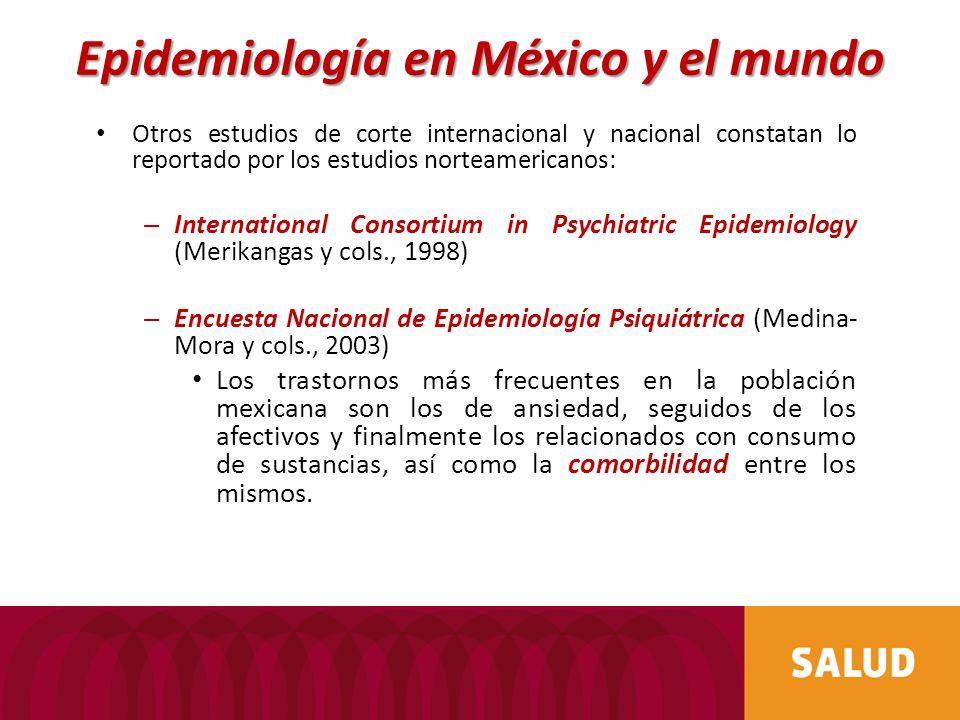 Otros estudios de corte internacional y nacional constatan lo reportado por los estudios norteamericanos: – International Consortium in Psychiatric Ep