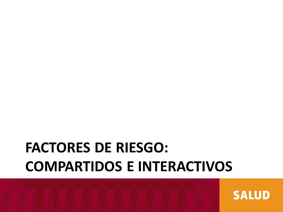 FACTORES DE RIESGO: COMPARTIDOS E INTERACTIVOS