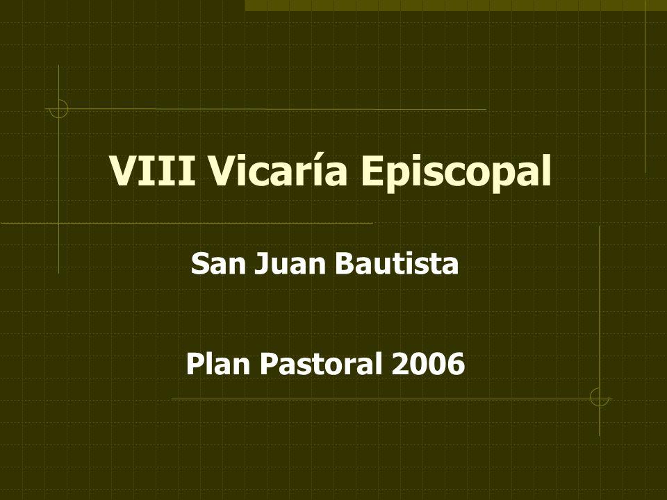 VIII Vicaría Episcopal San Juan Bautista Plan Pastoral 2006