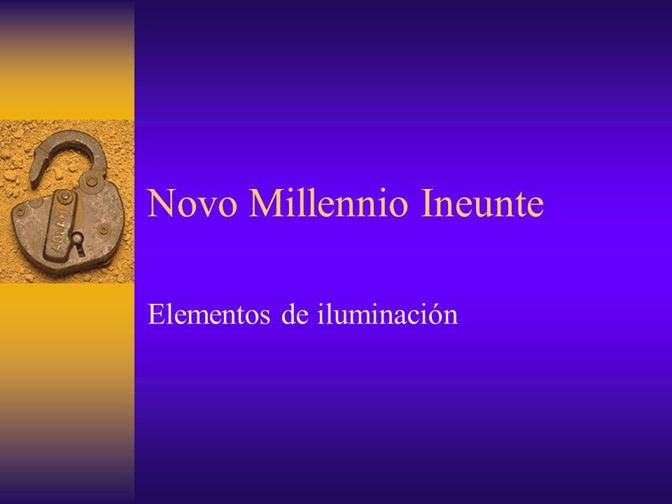 Novo Millennio Ineunte Elementos de iluminación