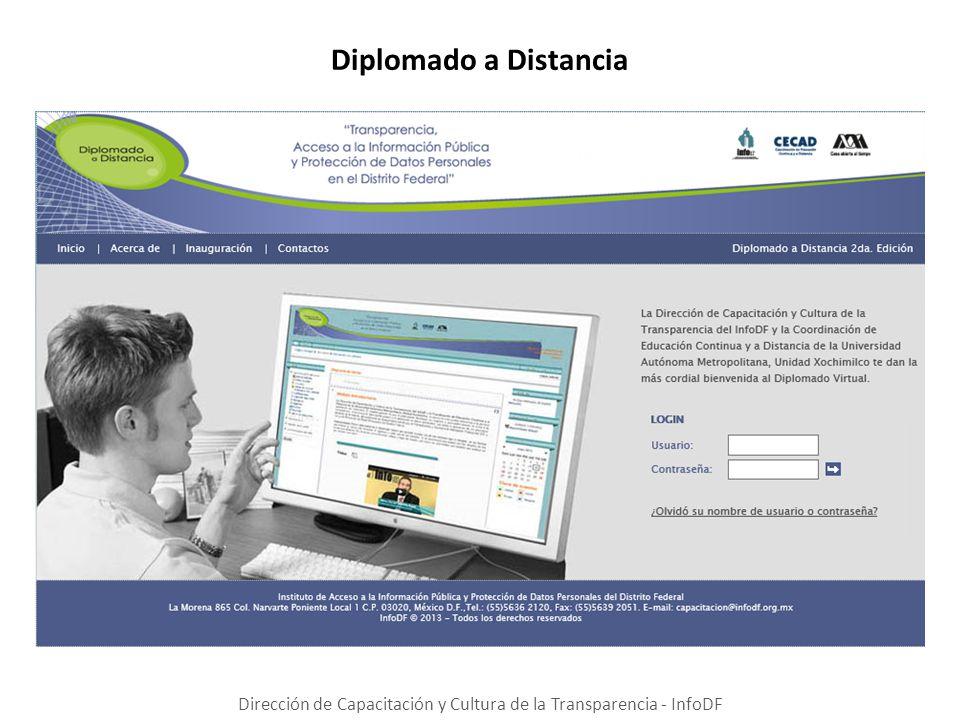 Diplomado a Distancia Dirección de Capacitación y Cultura de la Transparencia - InfoDF