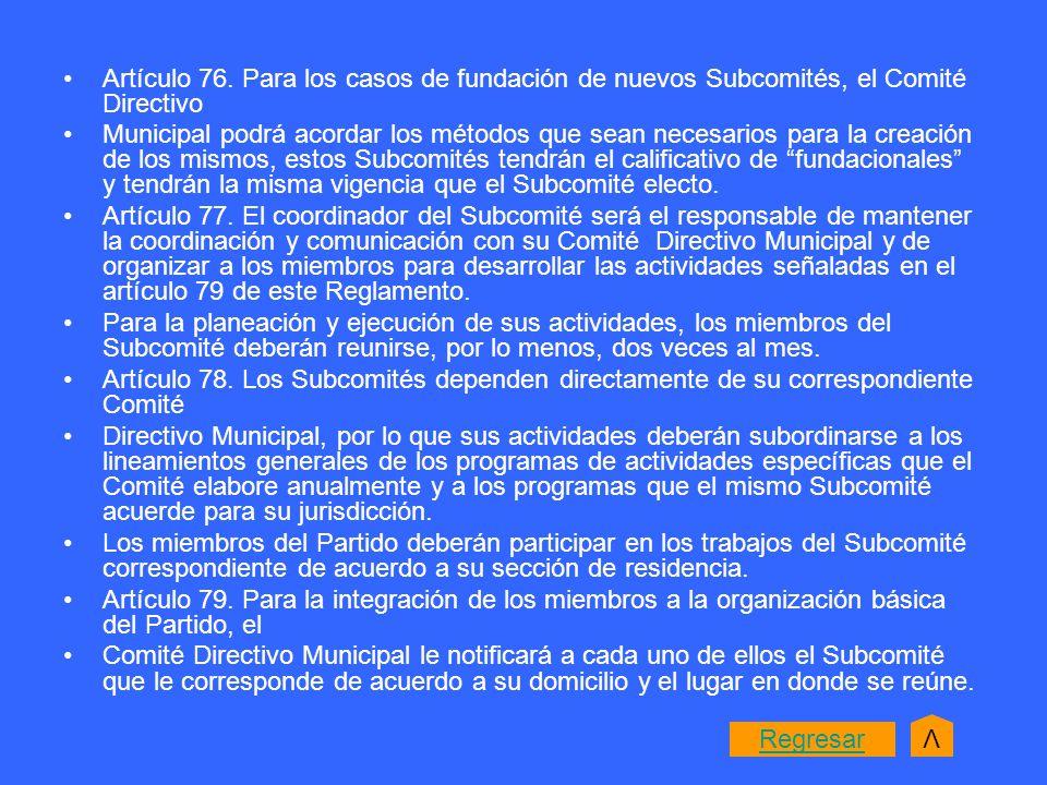 Artículo 76.