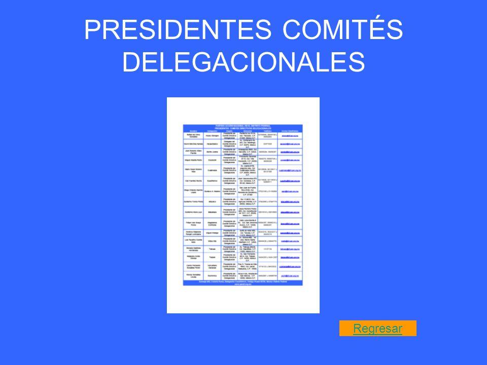 PRESIDENTES COMITÉS DELEGACIONALES Regresar