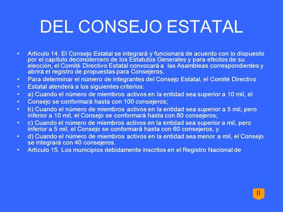 a) El período para presentar propuestas de delegados numerarios será establecido en la convocatoria para la Asamblea Municipal.
