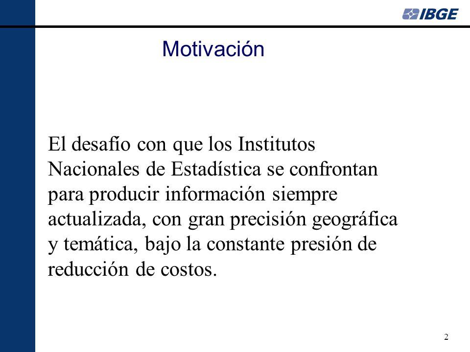 3 Objetivo especifico Promover el estudio y la evaluación de metodologías alternativas para censos demográficos en el contexto brasileño.