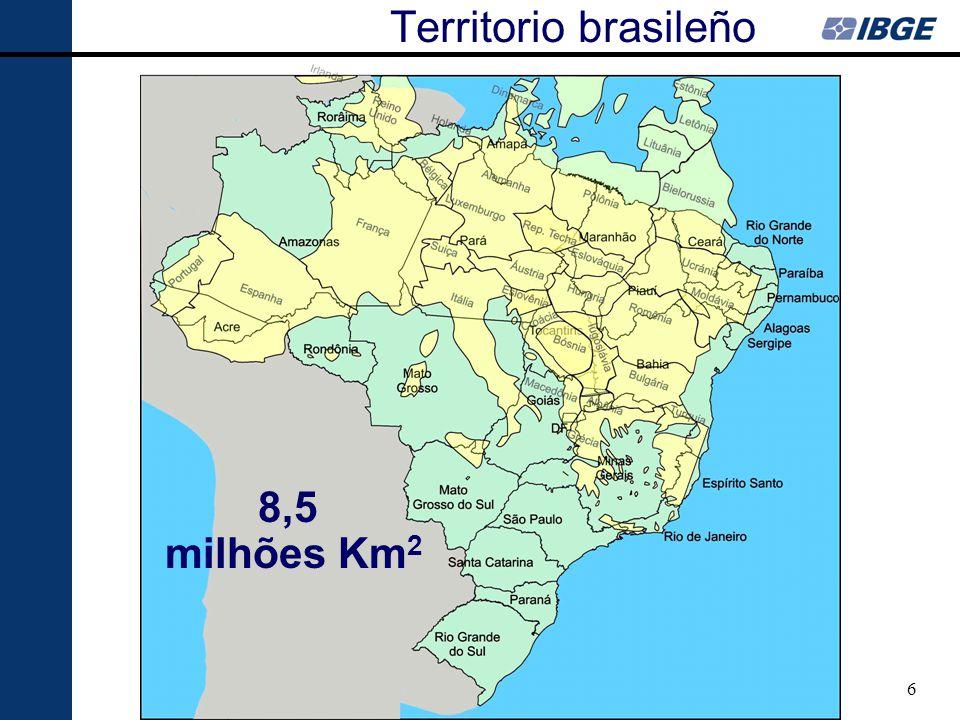 7 AMAZÔNIA LEGAL Cobertura Fitogeográfica 1976 Áreas Antrópicas Áreas Antrópicas Fonte: Projeto RADAM Ocupación del Territorio