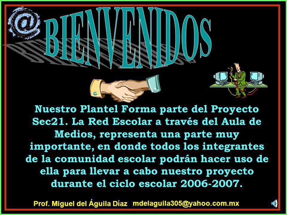 mdelaguila305@yahoo.com.mx Prof. Miguel del Águila Díaz