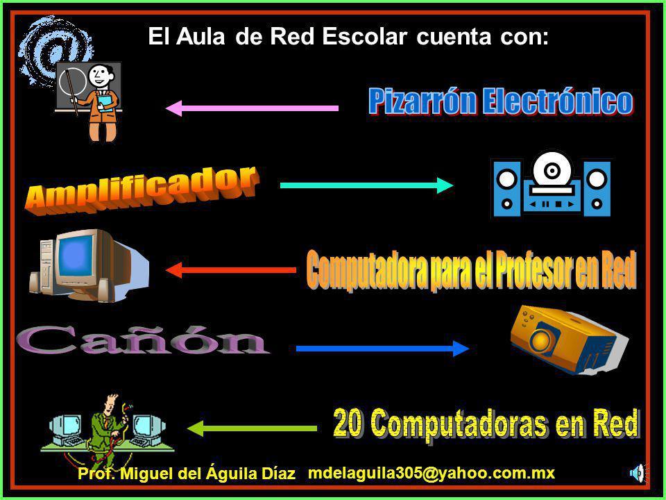Cada uno de los 2 Laboratorios de Física/Química y Biología contiene: mdelaguila305@yahoo.com.mx Prof. Miguel del Águila Díaz