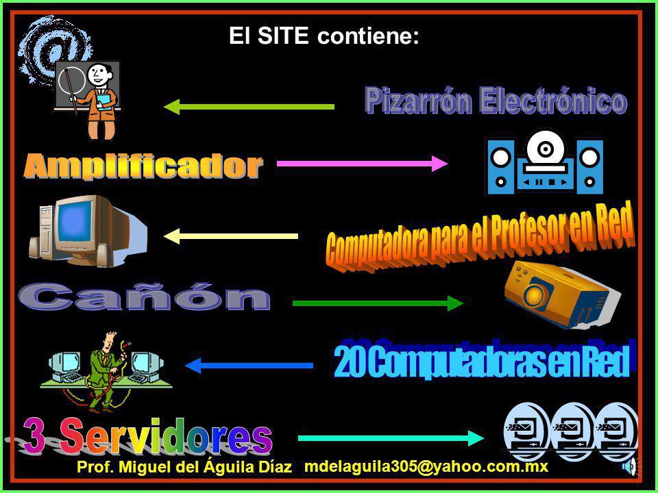 El Aula de Red Escolar cuenta con: mdelaguila305@yahoo.com.mx Prof. Miguel del Águila Díaz
