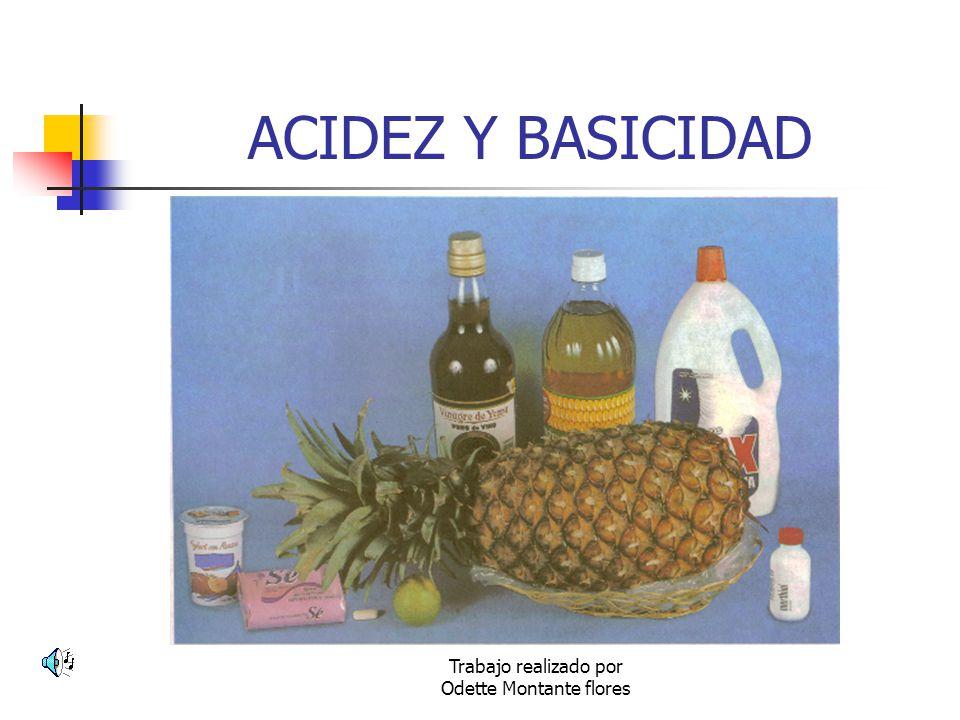 Trabajo realizado por Odette Montante flores ACIDEZ Y BASICIDAD