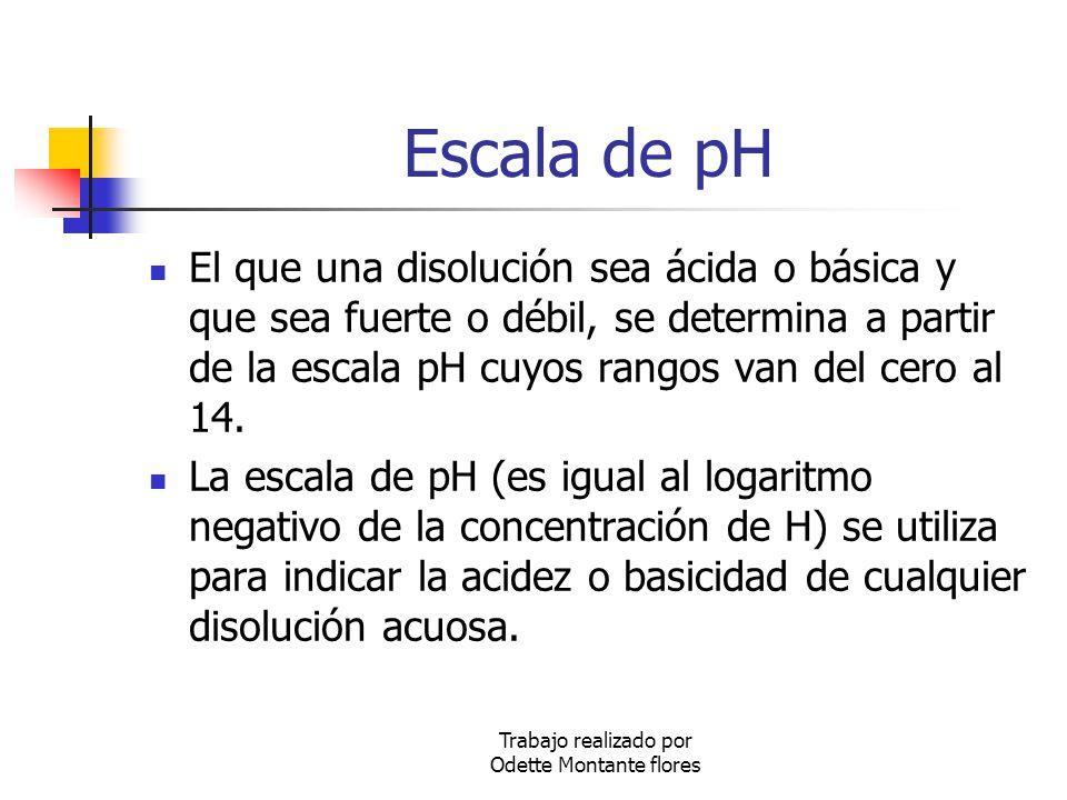 Escala de pH El que una disolución sea ácida o básica y que sea fuerte o débil, se determina a partir de la escala pH cuyos rangos van del cero al 14.