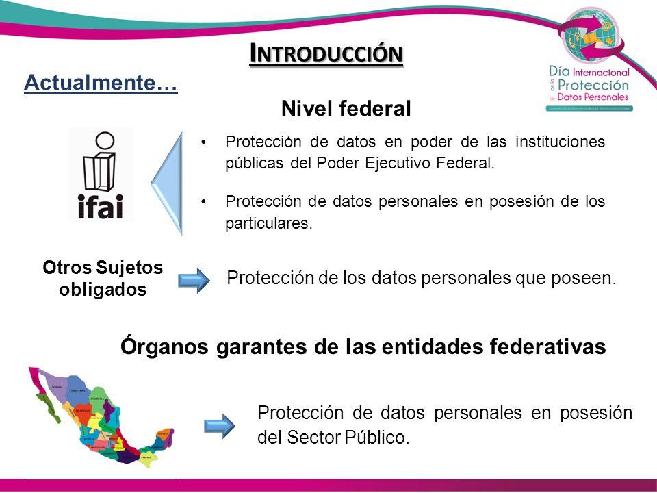 Actualmente… Protección de datos en poder de las instituciones públicas del Poder Ejecutivo Federal. Protección de datos personales en posesión de los