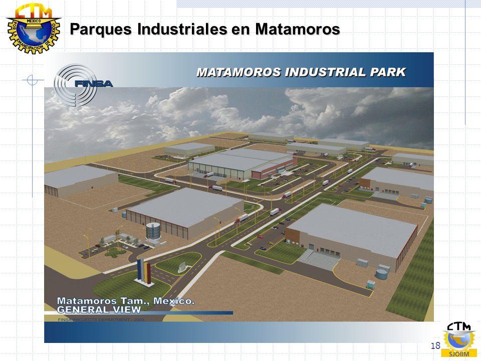 18 Parques Industriales en Matamoros