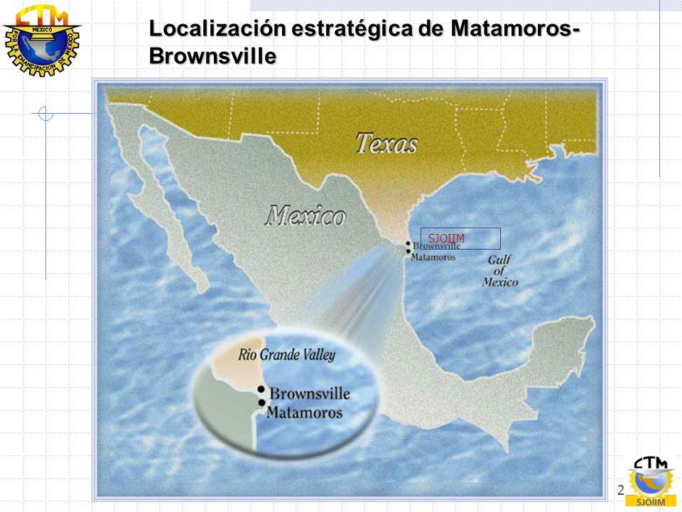 2 Localización estratégica de Matamoros- Brownsville SJOIIM