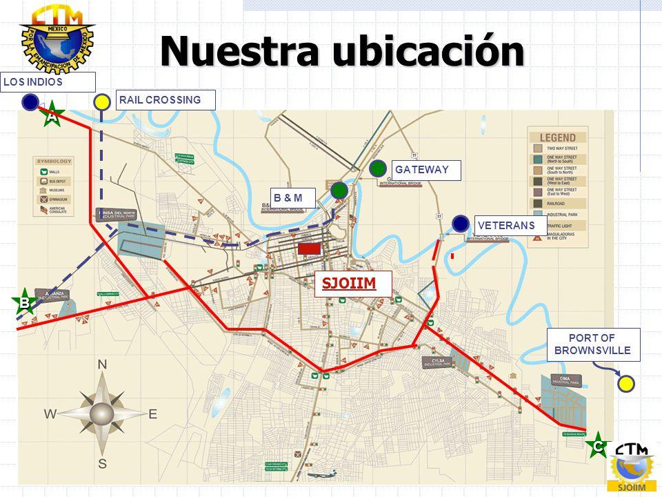 5 CCCC AAAA BBBB GATEWAY RAIL CROSSING LOS INDIOS PORT OF BROWNSVILLE VETERANS B & M Nuestra ubicación SJOIIM