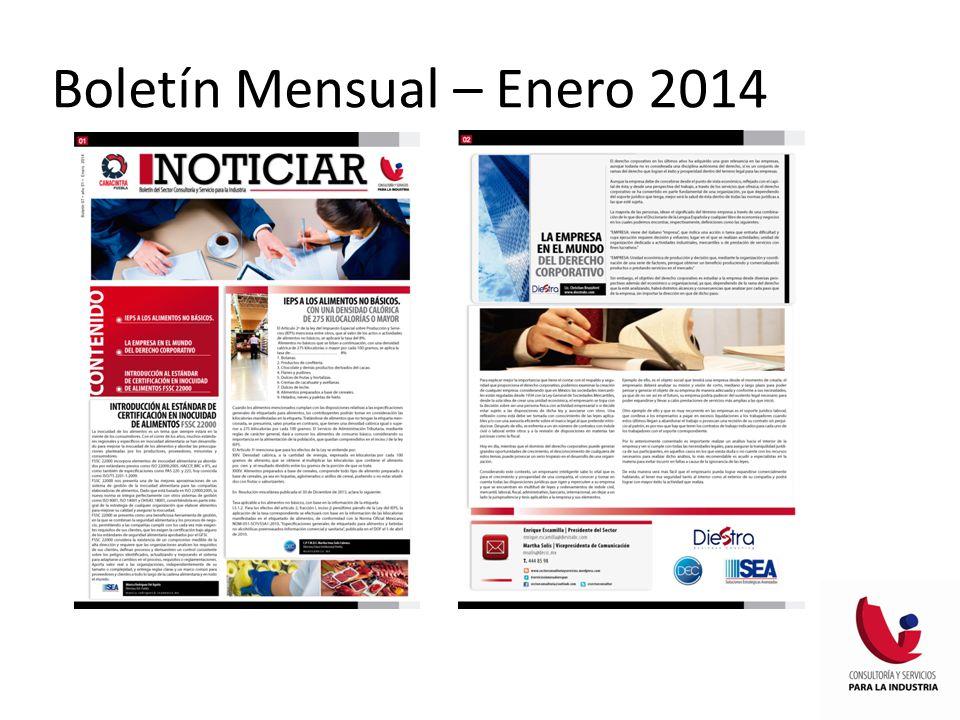Boletín Mensual – Enero 2014