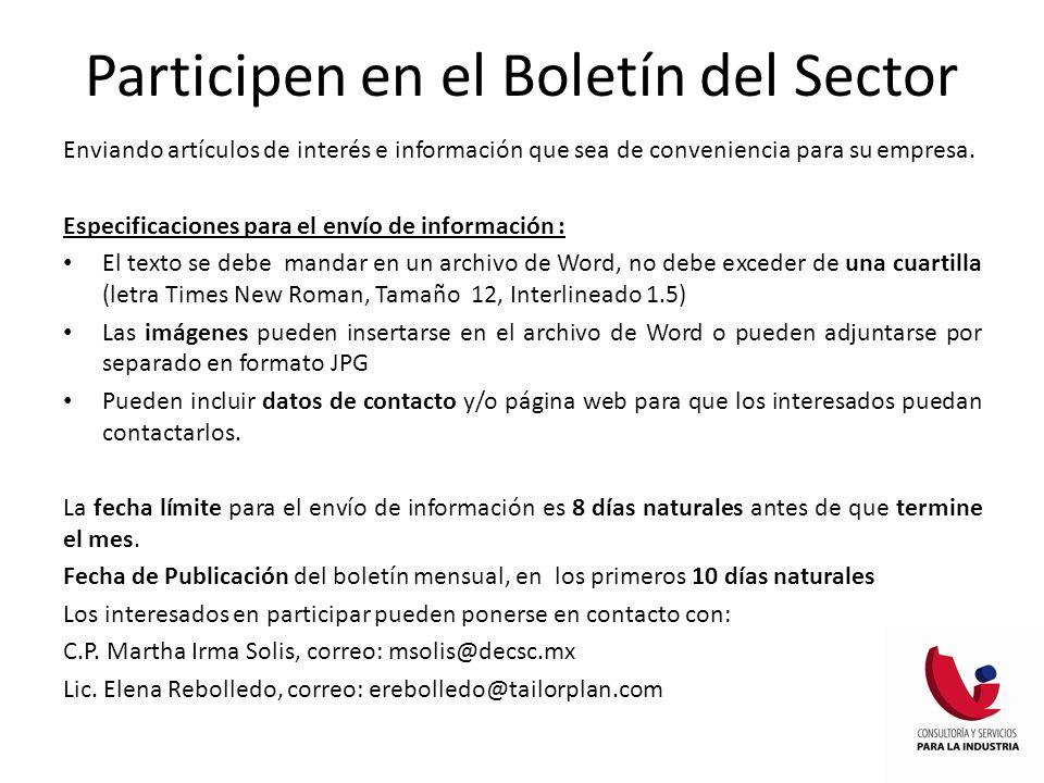 Enviando artículos de interés e información que sea de conveniencia para su empresa.