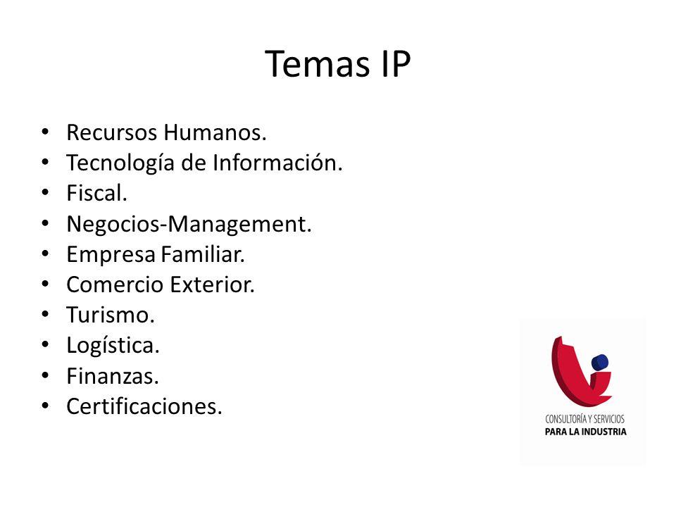 Temas IP Recursos Humanos.Tecnología de Información.