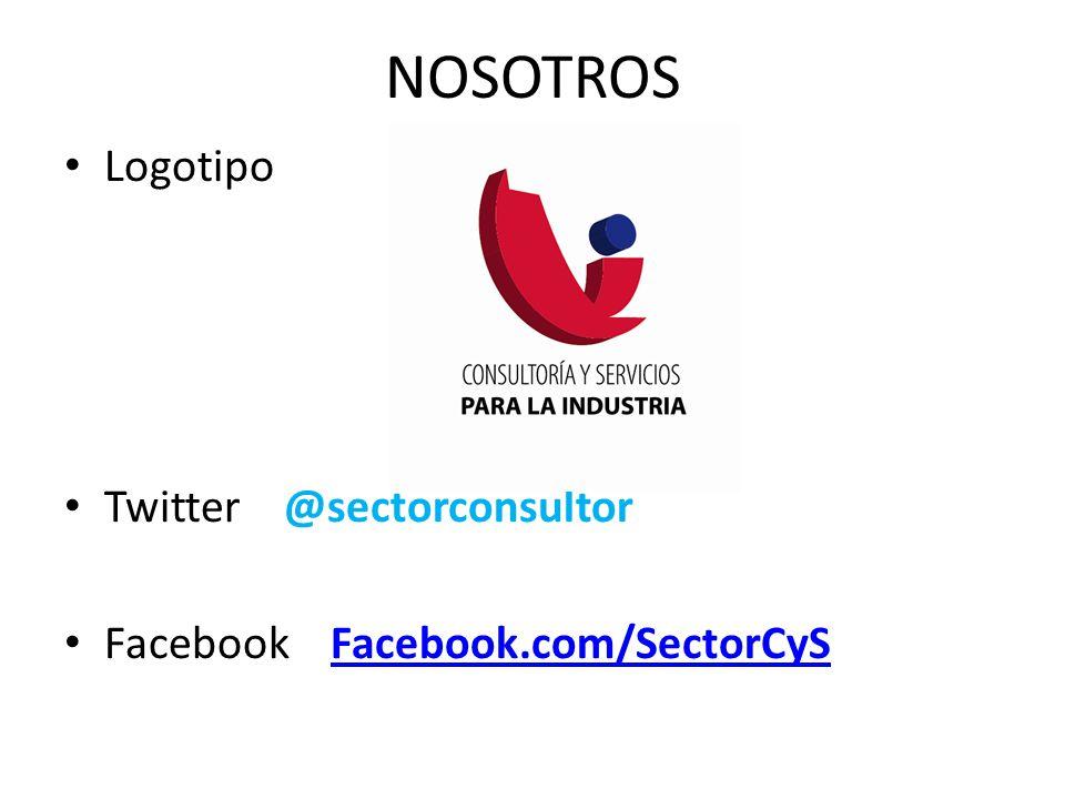 Logotipo Twitter @sectorconsultor Facebook Facebook.com/SectorCySFacebook.com/SectorCyS NOSOTROS