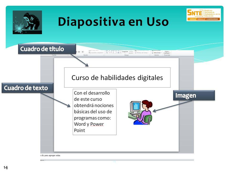 14 Diapositiva en UsoDiapositiva en Uso