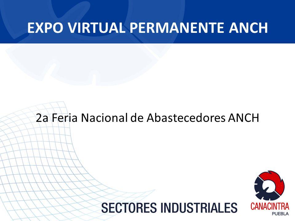 EXPO VIRTUAL PERMANENTE ANCH 2a Feria Nacional de Abastecedores ANCH