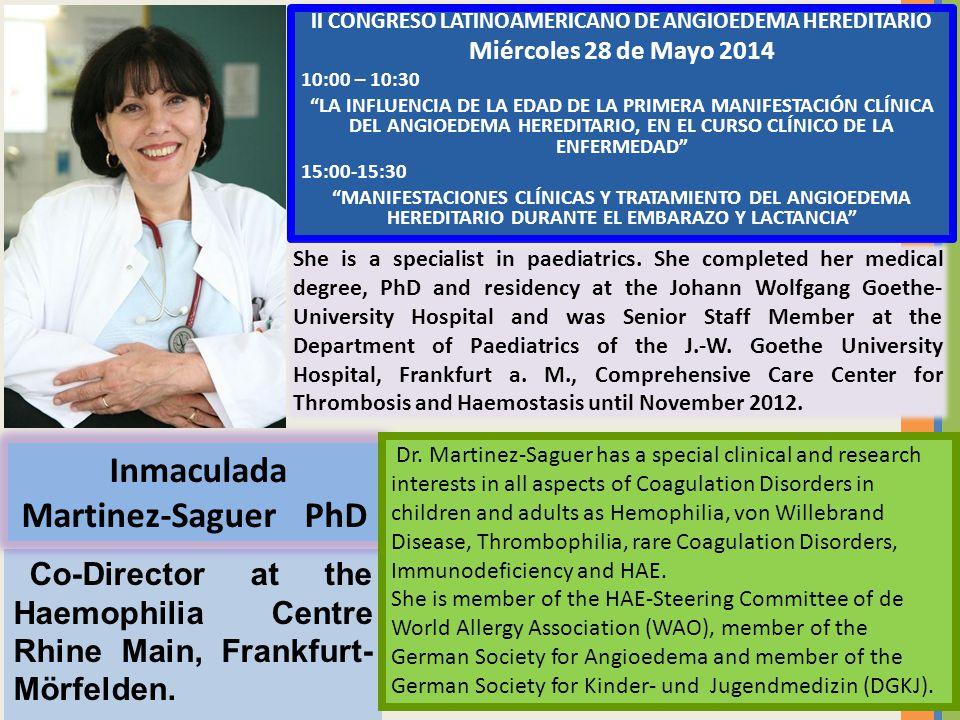 II CONGRESO LATINOAMERICANO DE ANGIOEDEMA HEREDITARIO Miércoles 28 de Mayo 2014 10:00 – 10:30 LA INFLUENCIA DE LA EDAD DE LA PRIMERA MANIFESTACIÓN CLÍ