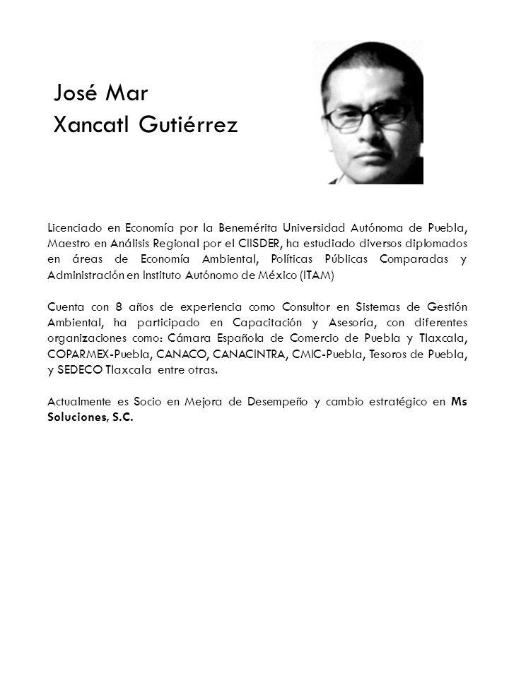 Alfredo Mota Morales Licenciado en Economía por la Benemérita Universidad Autónoma de Puebla, Maestro en Mercadotecnia.