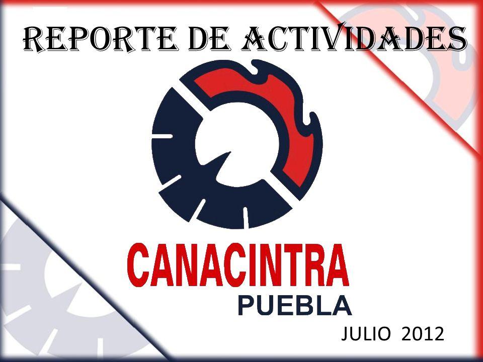 REPORTE DE Actividades JULIO 2012