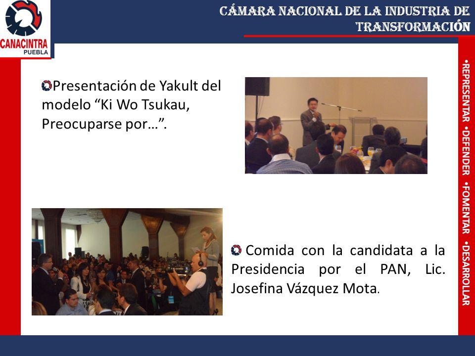 Cámara Nacional de la Industria de Transformac Cámara Nacional de la Industria de Transformación Comida con la candidata a la Presidencia por el PAN, Lic.