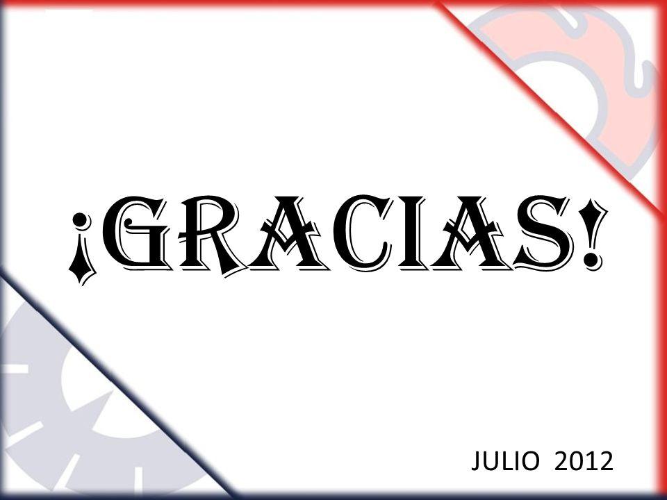 JULIO 2012 ¡GRACIAS!