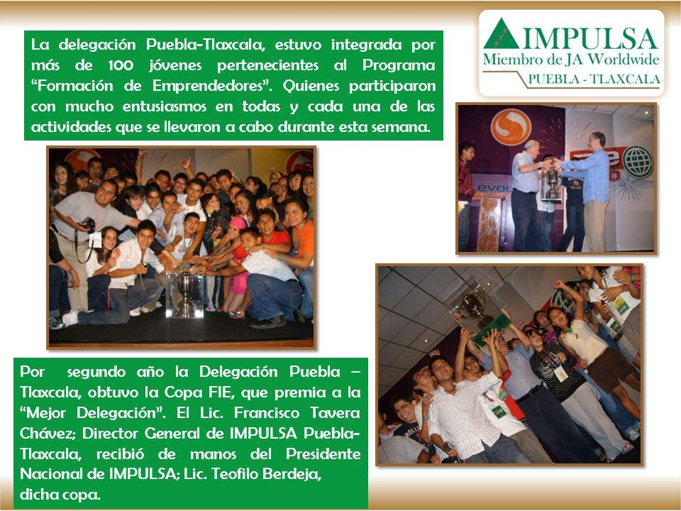 La delegación Puebla-Tlaxcala, estuvo integrada por más de 100 jóvenes pertenecientes al Programa Formación de Emprendedores.