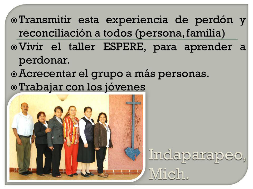 Multiplicar con los maestros este proyecto de perdón y reconciliación.