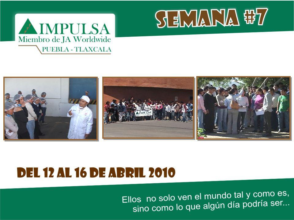 Del 12 al 16 de abril 2010