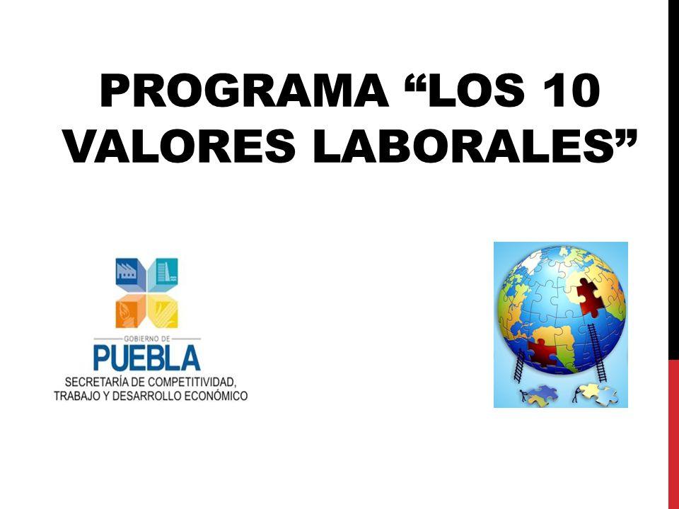 PROGRAMA LOS 10 VALORES LABORALES