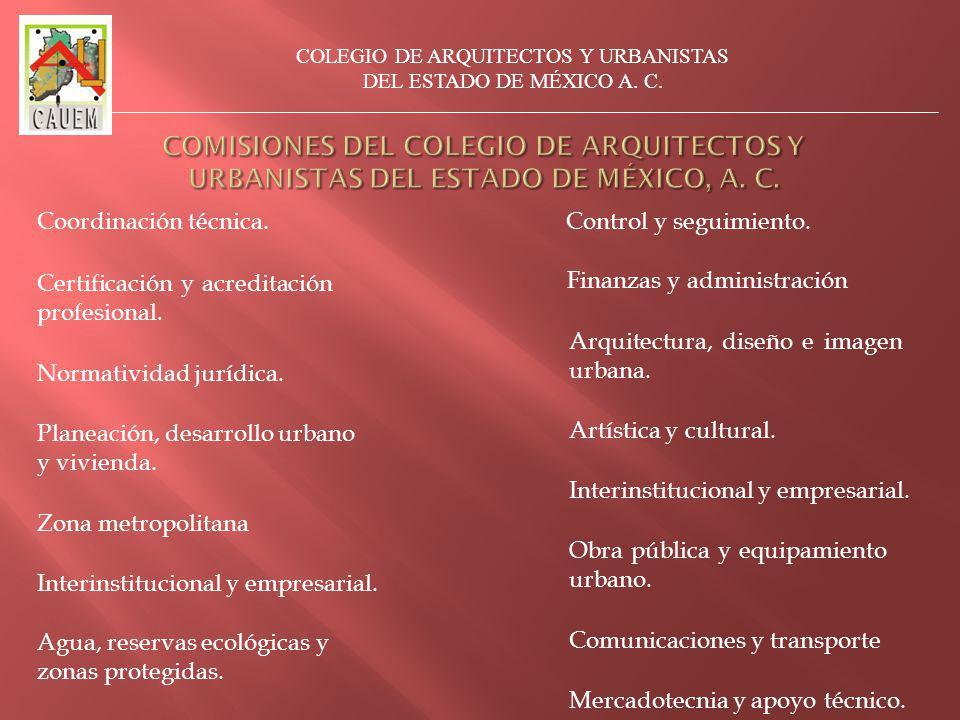 Coordinación técnica.Planeación, desarrollo urbano y vivienda.