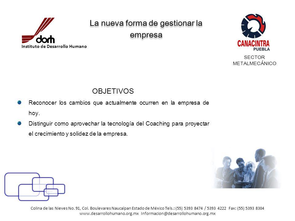 La nueva forma de gestionar la empresa OBJETIVOS Reconocer los cambios que actualmente ocurren en la empresa de hoy.