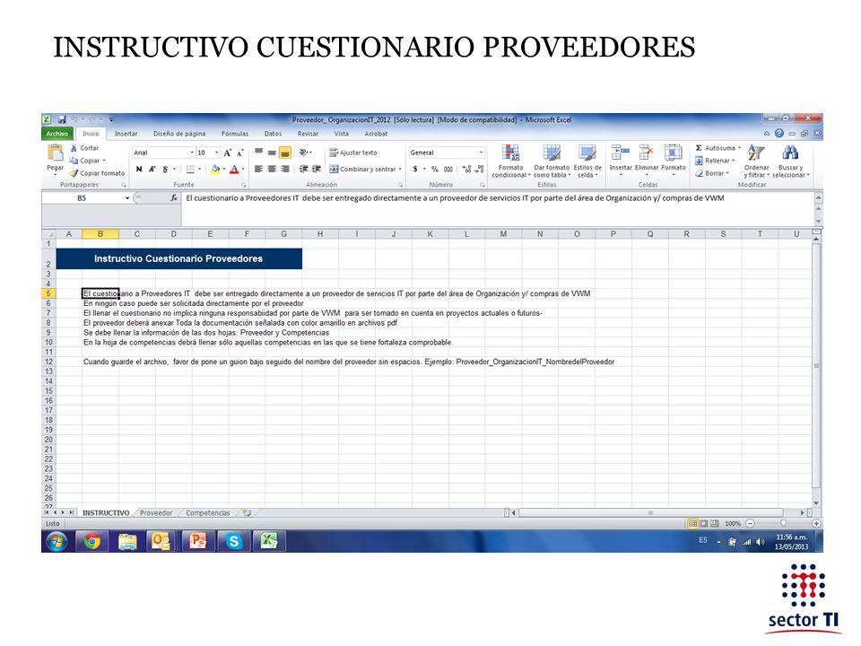 INSTRUCTIVO CUESTIONARIO PROVEEDORES