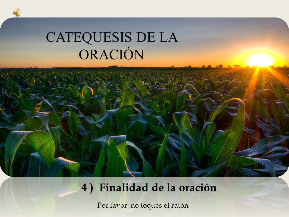 Por favor no toques el ratón 4 ) Finalidad de la oración CATEQUESIS DE LA ORACIÓN