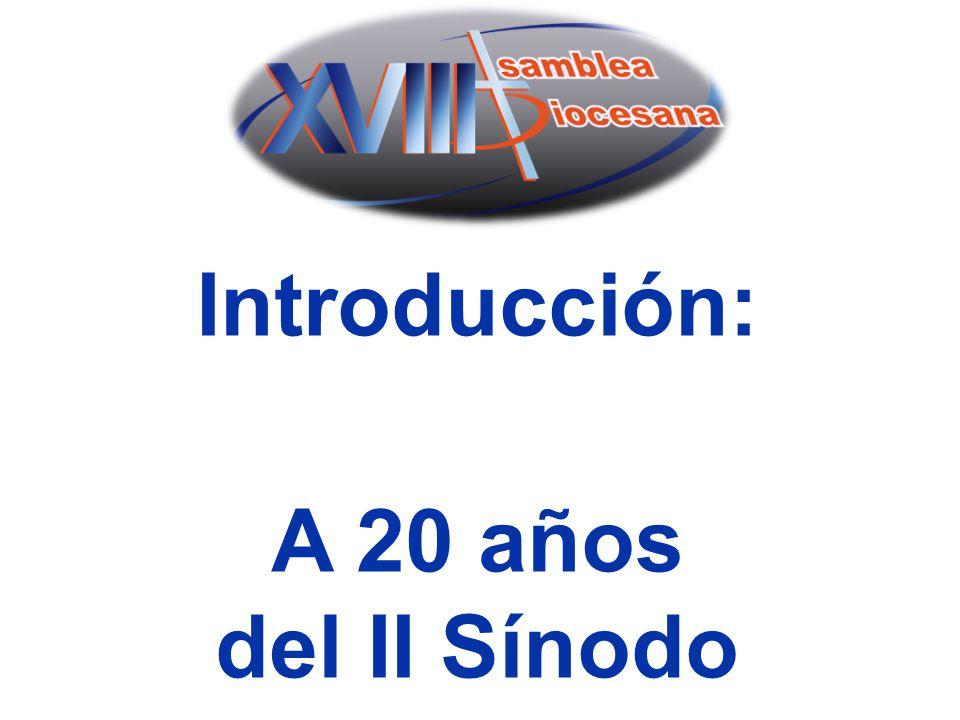 Introducción: A 20 años del II Sínodo