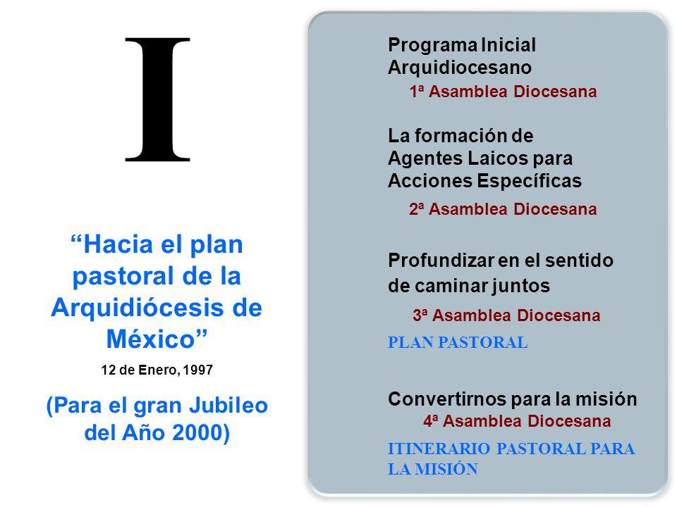 1ª Asamblea Diocesana 2ª Asamblea Diocesana La formación de Agentes Laicos para Acciones Específicas 3ª Asamblea Diocesana Profundizar en el sentido d