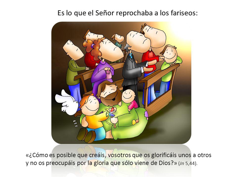 La mundanidad espiritual, que se esconde detrás de apariencias de religiosidad e incluso de amor a la Iglesia, es buscar, en lugar de la gloria del Se