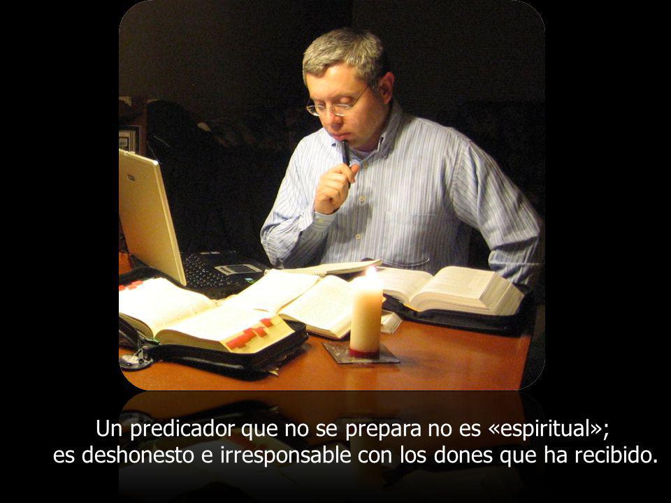 La preparación de la predicación es una tarea tan importante que conviene dedicarle un tiempo prolongado de estudio, oración, reflexión y creatividad pastoral.