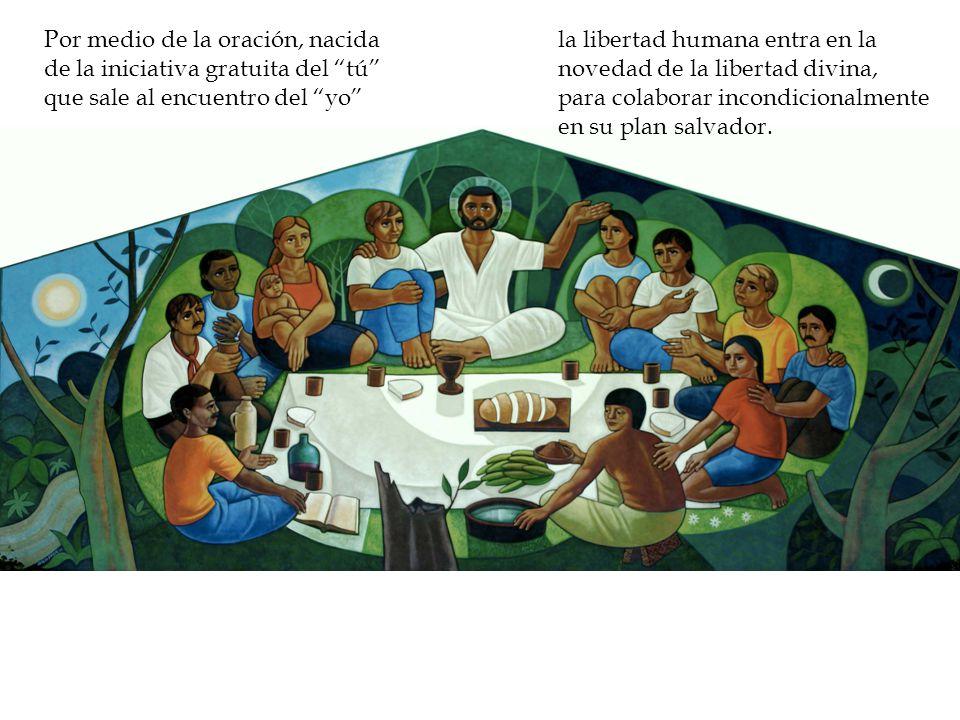 la libertad humana entra en la novedad de la libertad divina, para colaborar incondicionalmente en su plan salvador.