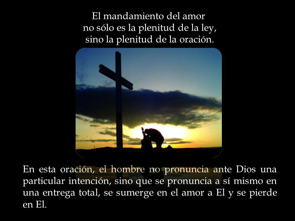 El mandamiento del amor no sólo es la plenitud de la ley, sino la plenitud de la oración.
