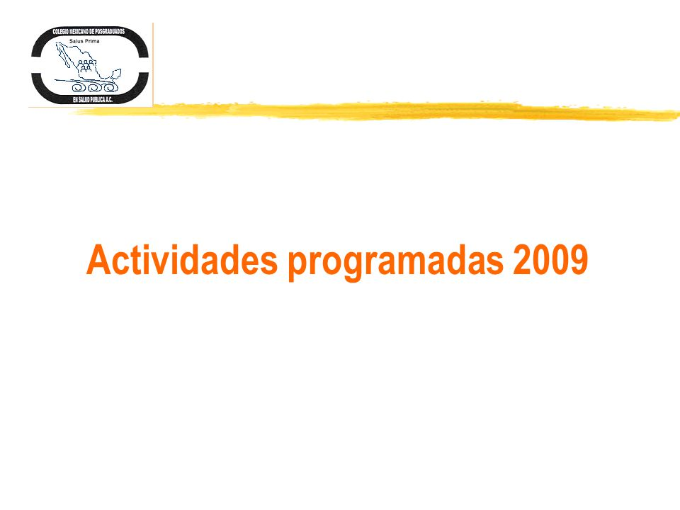 Actividades programadas 2009