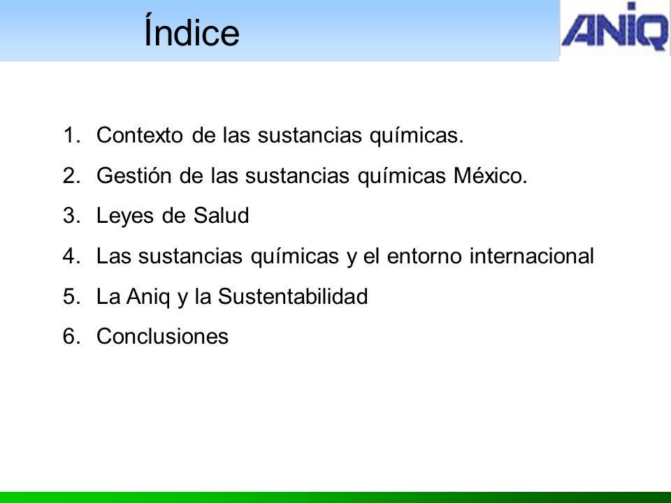 1.Contexto de las sustancias químicas.2.Gestión de las sustancias químicas México.
