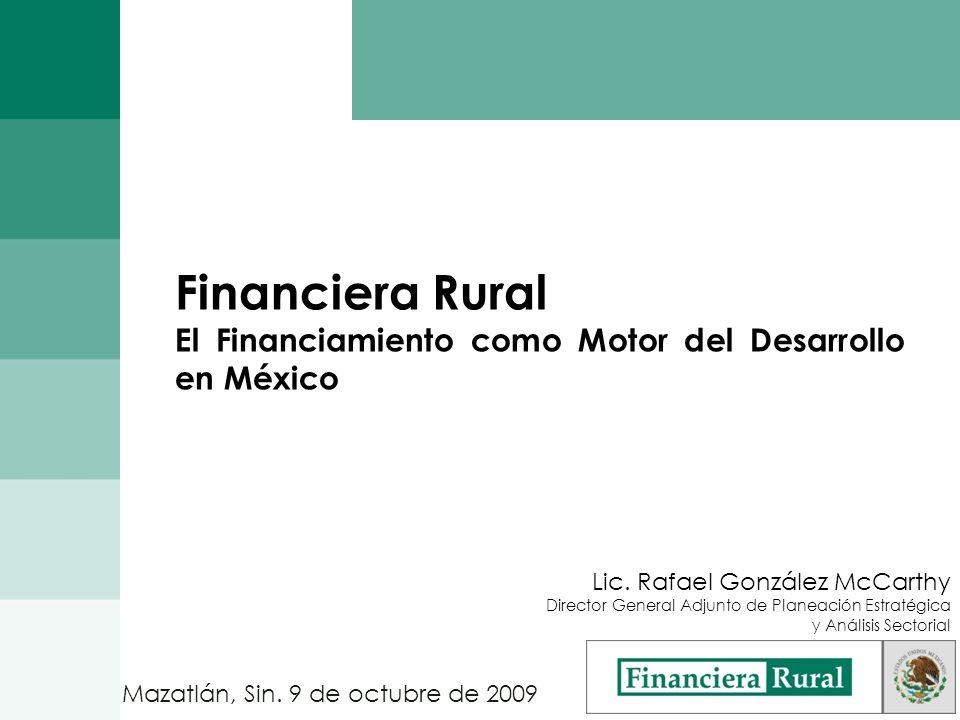 Contenido 1.Panorama de Sector Rural 2.Financiamiento al Sector Rural 3.Evolución de Financiera Rural 4.Retos del Sector 5.Financiera Rural: Cultura de Aseguramiento